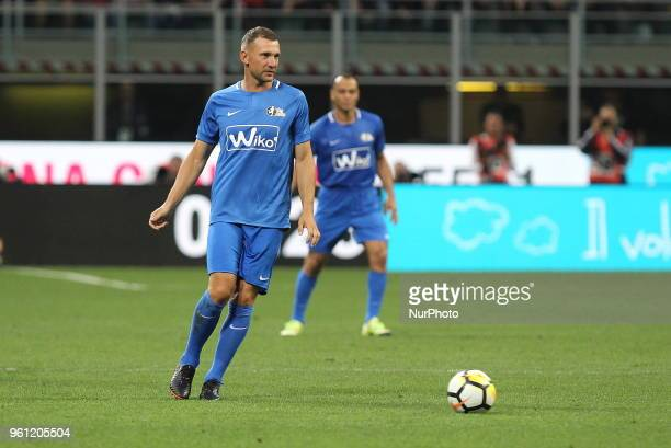 Andriy Shevchenko during quotLa partita del Maestroquot the farewell match by Andrea Pirlo at Giuseppe Meazza stadium on May 21 2018 in Milan Italy