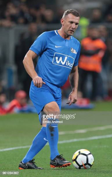 Andriy Shevchenko in action during Andrea Pirlo Farewell Match at Stadio Giuseppe Meazza on May 21 2018 in Milan Italy