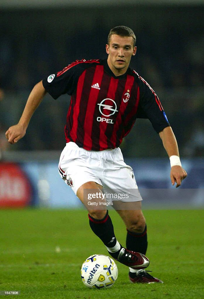 andriy shevchenko of ac milan in action during the serie a match photo d 39 actualit getty images. Black Bedroom Furniture Sets. Home Design Ideas