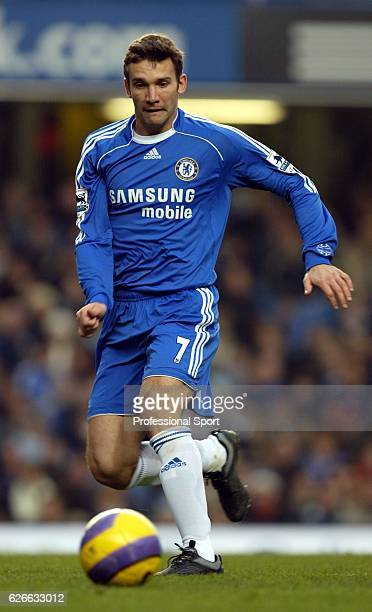 Andriy Shevchenko of Chelsea in action during the Barclays Premiership match between Chelsea and Reading at Stamford Bridge on December 26 2006 in...