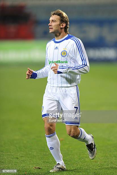 Andriy Shevchenko of FC Dynamo Kiev during the Ukrainian League match between FC Dynamo Kiev and FC Obolon held on October 17 2009 at the Lobanovskyy...