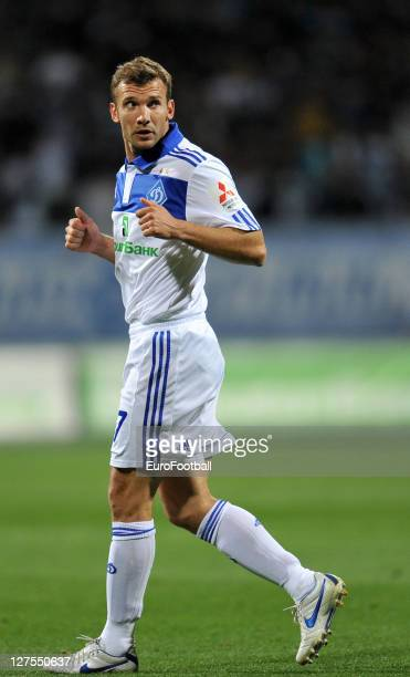 Andriy Shevchenko of FC Dynamo Kiev in action during the Ukrainian Premier League match between FC Dynamo Kyiv and FC Shakhtar Donetsk on September...