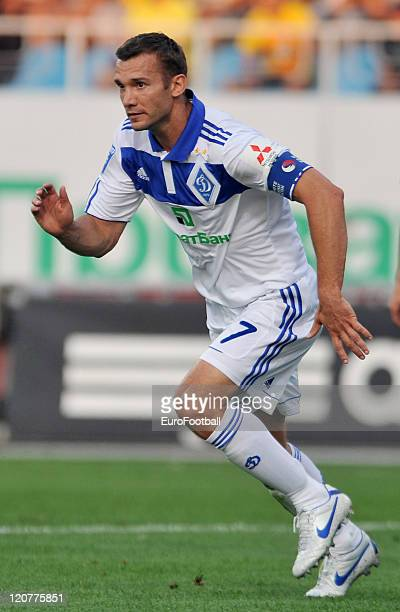 Andriy Shevchenko of FC Dynamo Kyiv in action during the Ukrainian Premier League match between FC Dynamo Kyiv and FC Karpaty Lviv on August 7 2011...