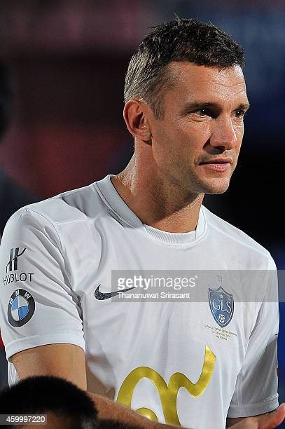 Andriy Shevchenko of Team Figo poses during the Global Legends Series match at the SCG Stadium on December 5 2014 in Bangkok Thailand