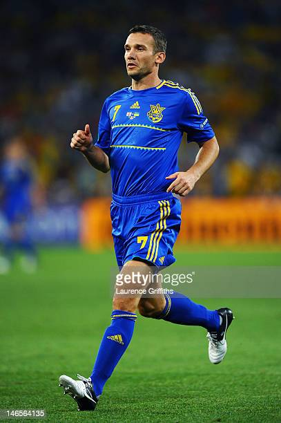 Andriy Shevchenko of Ukraine runs during the UEFA EURO 2012 group D match between England and Ukraine at Donbass Arena on June 19 2012 in Donetsk...