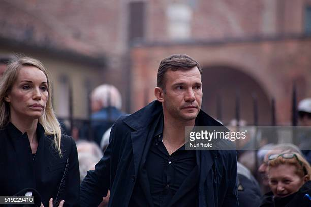 Andriy Shevchenko takes part to the Funeral of Cesare Maldini at Saint Ambrogio in Milan on April 5th 2016 Former AC Milan defender and Italy coach...