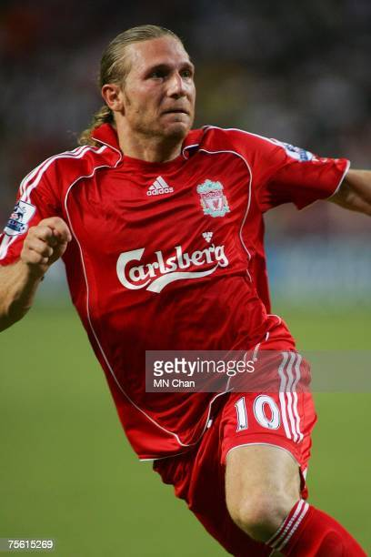 Andriy Voronin of Liverpool in action during the preseason Barclays Asia Trophy match between Liverpool FC and South China FC at Hong Kong Stadium on...
