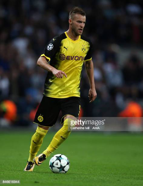 Andriy Yarmolenko of Borussia Dortmund during the UEFA Champions League group H match between Tottenham Hotspur and Borussia Dortmund at Wembley...