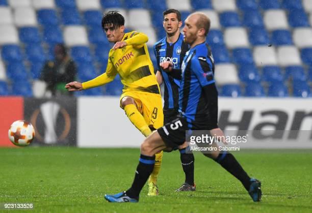 Andriy Yarmolenko of Borussia Dortmund in action during UEFA Europa League Round of 32 match between Atalanta and Borussia Dortmund at the Mapei...