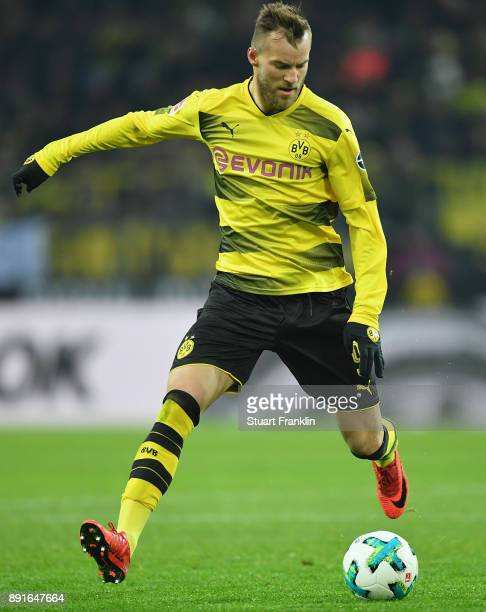 Andriy Yarmolenko of Dortmund in action during the Bundesliga match between Borussia Dortmund and SV Werder Bremen at Signal Iduna Park on December 9...