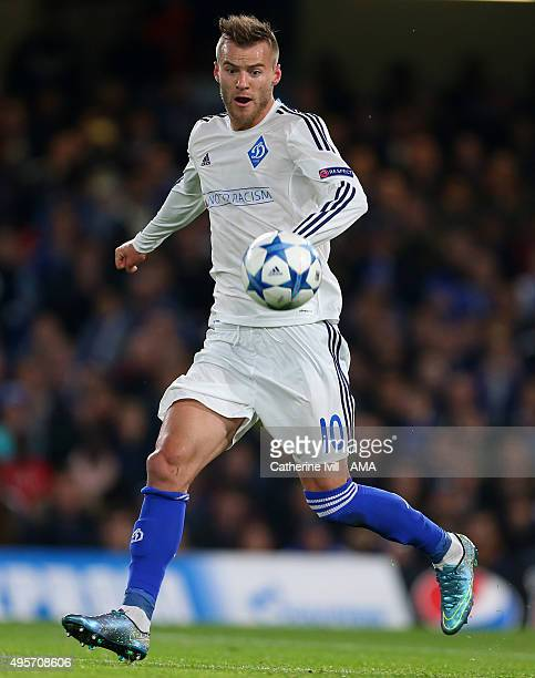 Andriy Yarmolenko of Dynamo Kiev during the UEFA Champions League Group G match between Chelsea and Dynamo Kyiv at Stamford Bridge on November 4 2015...