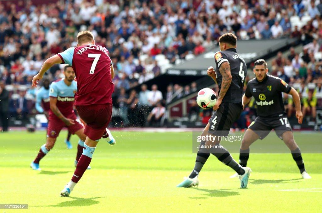West Ham United v Norwich City - Premier League : News Photo
