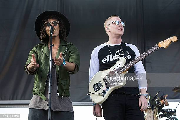 Andro Cowperthwaite and Joshua LloydWatson perform at the Sasquatch Music Festival at The Gorge on May 22 2015 in George Washington