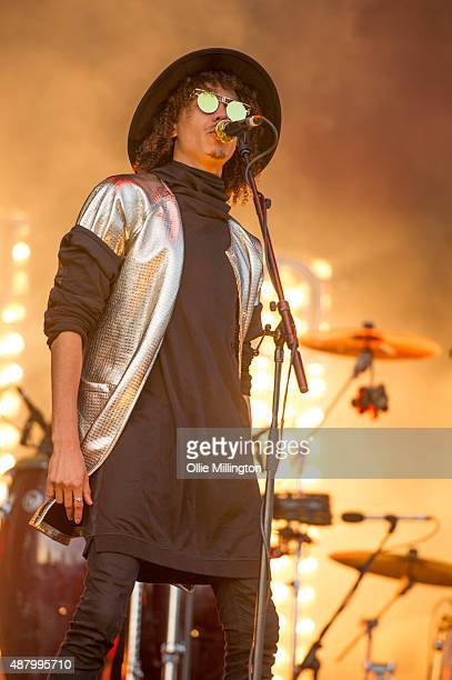 Andro Cowperthwaite of Jungle performs onstage during day 3 of Bestival 2015 at Robin Hill Country Park on September 12 2015 in Newport Isle of Wight