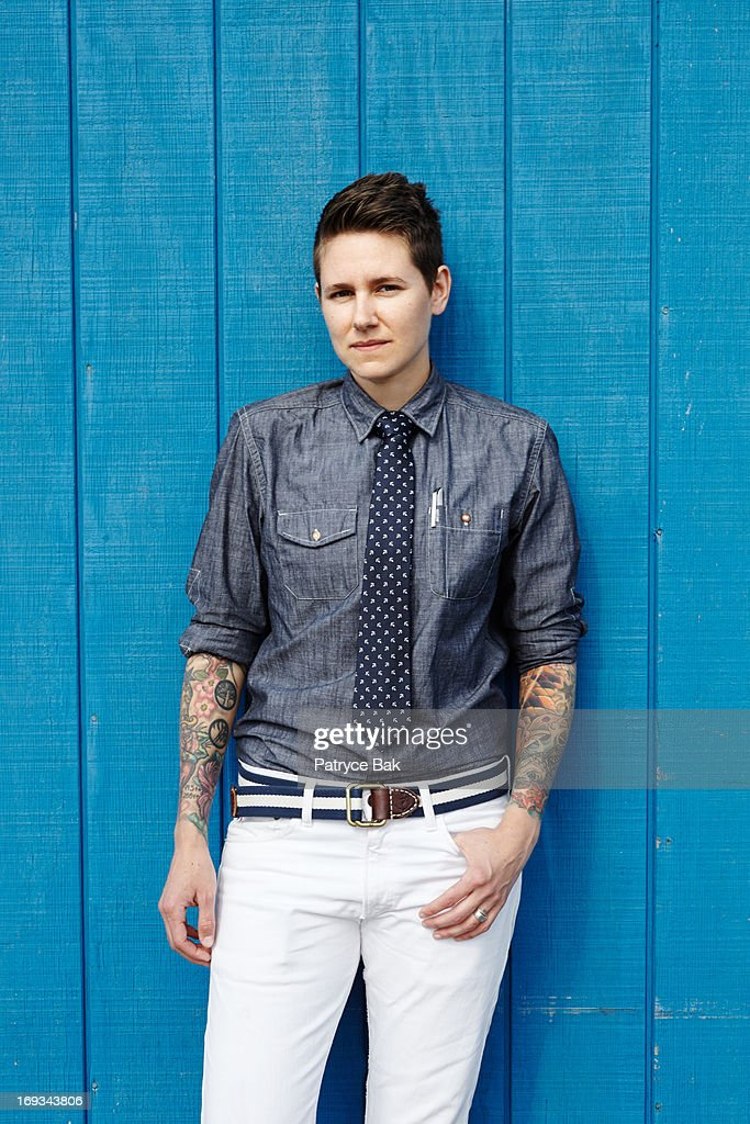 Androgynous New England Style Lgbt Hipster Women Stock