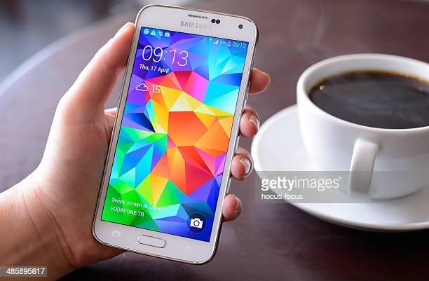 Android sur Samsung Galaxy S5 Téléphone mobile intelligent