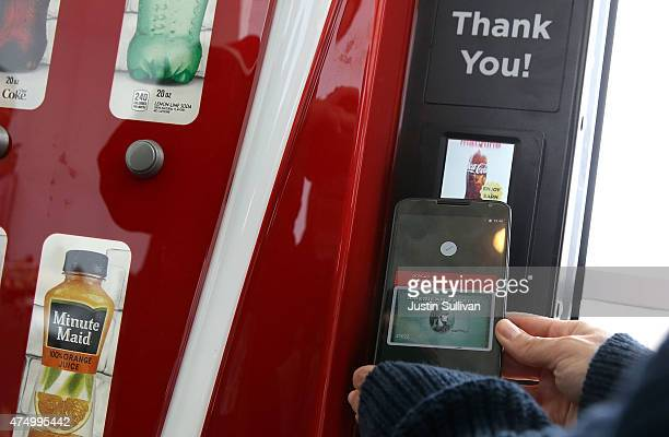 Android Pay is demonstrated during the 2015 Google I/O conference on May 28 2015 in San Francisco California The annual Google I/O conference runs...