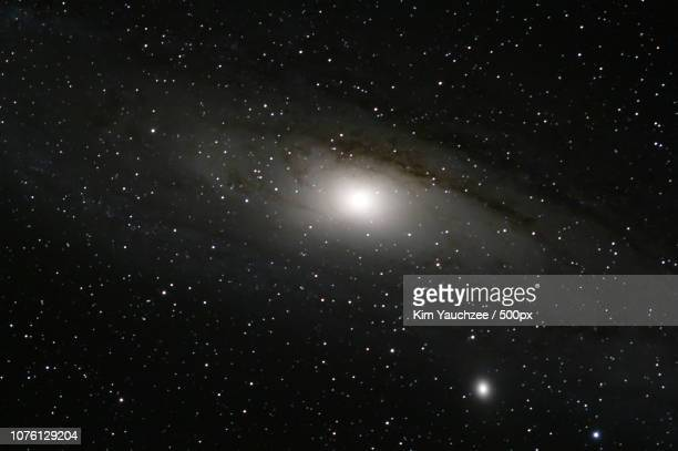 andromeda galaxy - messier 31 - kim messier stock pictures, royalty-free photos & images