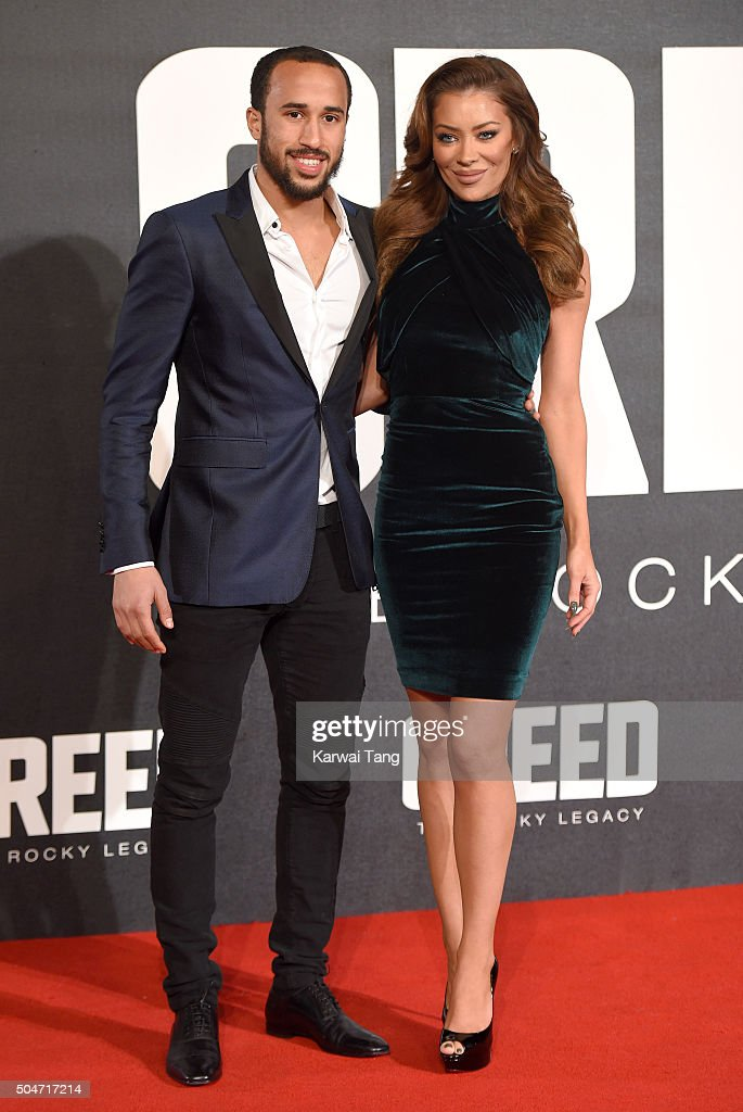 Andros Townsend attends the European Premiere of 'Creed' on January 12, 2016 in London, England.