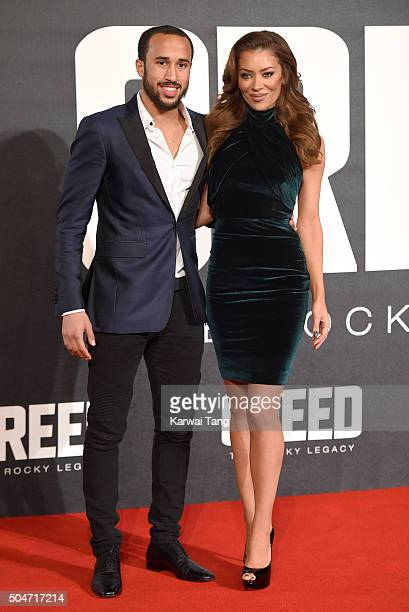 Andros Townsend attends the European Premiere of 'Creed' on January 12 2016 in London England