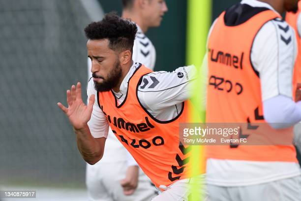 Andros Townsend during the Everton Training Session at USM Finch Farm on September 16 2021 in Halewood, England.