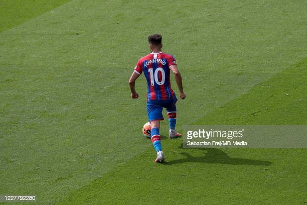 Andros Townsend of Crystal Palace control ball during the Premier League match between Crystal Palace and Tottenham Hotspur at Selhurst Park on July...