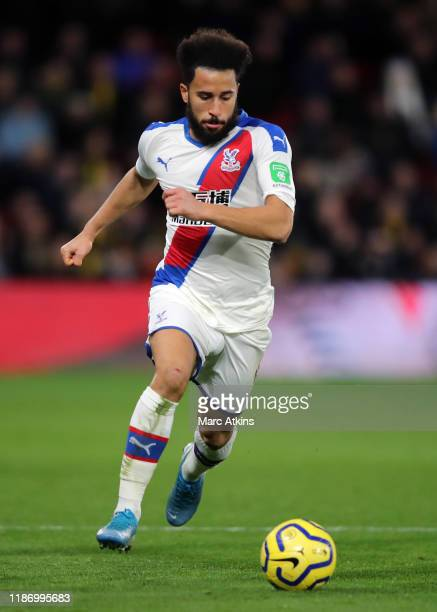 Andros Townsend of Crystal Palace during the Premier League match between Watford FC and Crystal Palace at Vicarage Road on December 7 2019 in...