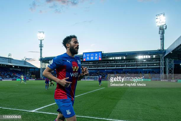Andros Townsend of Crystal Palace during the Premier League match between Crystal Palace and Arsenal at Selhurst Park on May 19, 2021 in London,...