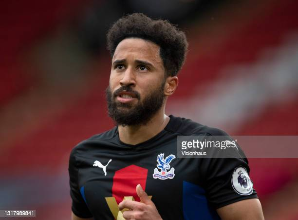 Andros Townsend of Crystal Palace during the Premier League match between Sheffield United and Crystal Palace at Bramall Lane on May 8, 2021 in...