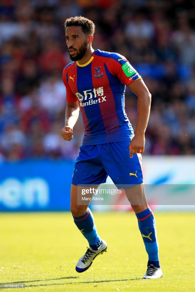 Andros Townsend of Crystal Palace during the Pre-Season Friendly between Crystal Palace and Toulouse at Selhurst Park on August 4, 2018 in London, England.