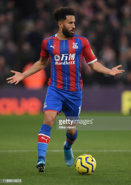 Andros Townsend of Crystal Palace in action during the Premier League match between Crystal Palace and Liverpool FC at Selhurst Park on November 23...