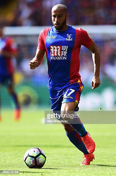 Andros Townsend of Crystal Palace in action during the Premier League match between Crystal Palace and West Bromwich Albion at Selhurst Park on...
