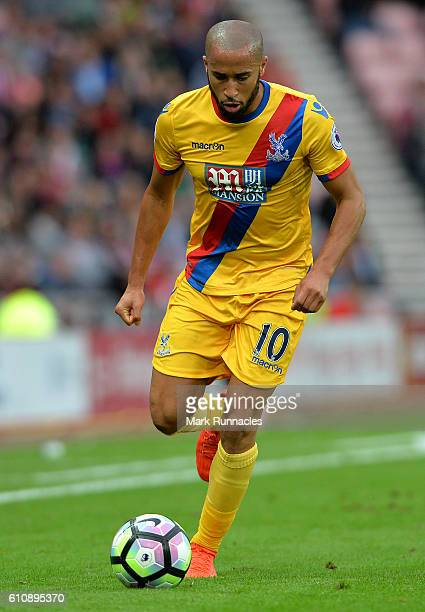 Andros Townsend of Crystal Palace in action during the Premier League match between Sunderland FC and Crystal Palace FC at Stadium of Light on...
