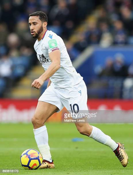 Andros Townsend of Crystal Palace in action during the Premier League match between Leicester City and Crystal Palace at The King Power Stadium on...