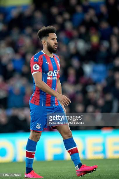 Andros Townsend of Crystal Palace looks on during the Premier League match between Crystal Palace and Sheffield United at Selhurst Park on February 1...