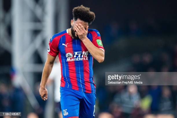 Andros Townsend of Crystal Palace reaction during the Premier League match between Crystal Palace and Liverpool FC at Selhurst Park on November 23...