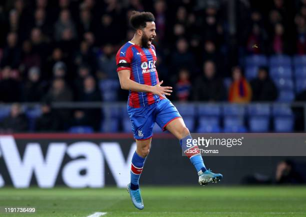 Andros Townsend of Crystal Palace reacts after a missed chance during the Premier League match between Crystal Palace and AFC Bournemouth at Selhurst...