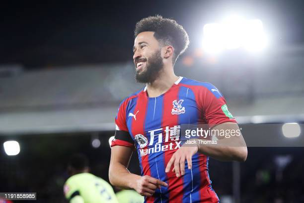Andros Townsend of Crystal Palace reacts during the Premier League match between Crystal Palace and AFC Bournemouth at Selhurst Park on December 03...