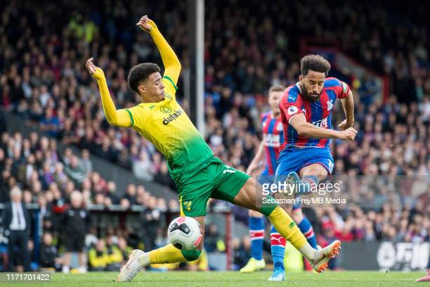 Andros Townsend of Crystal Palace scores a goal during the Premier League match between Crystal Palace and Norwich City at Selhurst Park on September...