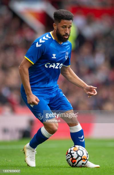 Andros Townsend of Everton during the pre-season friendly match between Manchester United and Everton at Old Trafford on August 7, 2021 in...