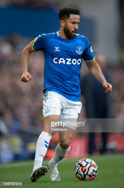 Andros Townsend of Everton in action during the Premier League match between Everton and Watford at Goodison Park on October 23, 2021 in Liverpool,...
