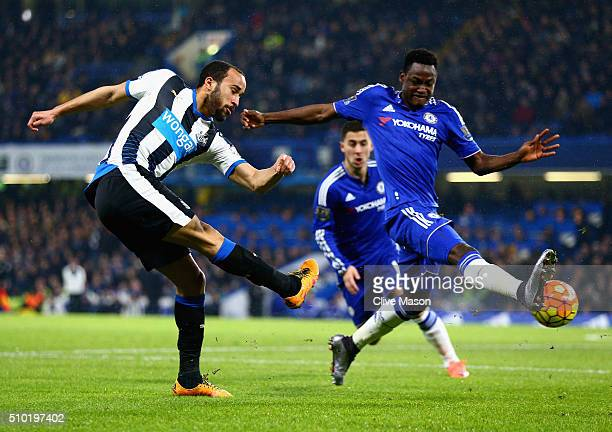 Andros Townsend of Newcastle United in action during the Barclays Premier League match between Chelsea and Newcastle at Stamford Bridge on February...