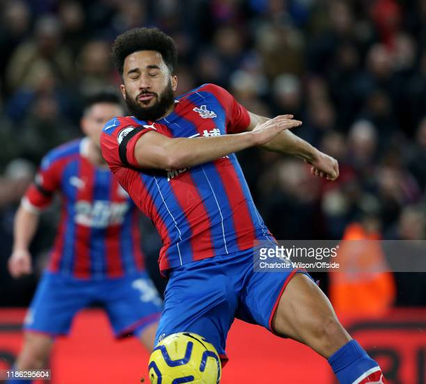 Andros Townsend of Palace during the Premier League match between Crystal Palace and AFC Bournemouth at Selhurst Park on December 3 2019 in London...