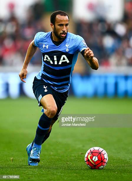 Andros Townsend of Tottenham Hotspur in action during the Barclays Premier League match between Swansea City and Tottenham Hotspur at Liberty Stadium...
