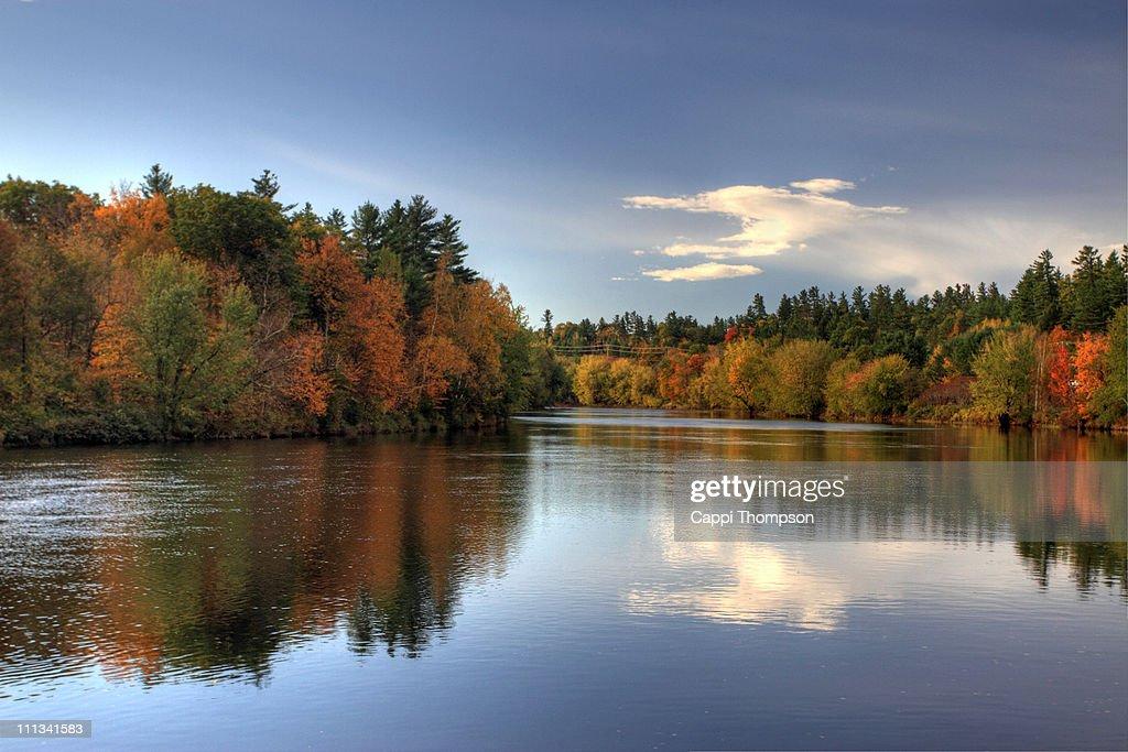 Androscoggin River Bethel, Maine : Stock Photo