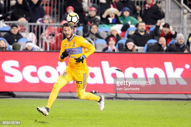 AndréPierre Gignac of Tigres UANL runs after the ball during the CONCACAF Champions League Quarterfinal match between Toronto FC and Tigres UANL on...