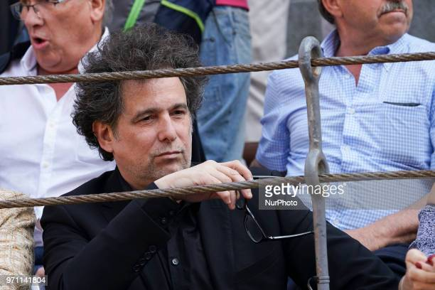 Andrés Calamaro I attends the traditional Press Bullfight the last event of the San Isidro Bullfighting Fair held at Las Ventas bullring in Madrid...