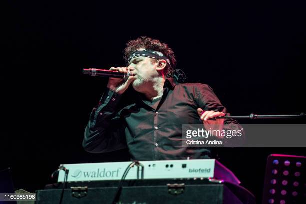 Andrés Calamaro performs in the PortAmérica´s festival on July 6 2019 in Caldas de Reis Spain
