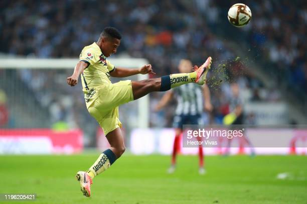 Andrés Ibargüen of America kicks the ball during the Final first leg match between Monterrey and America as part of the Torneo Apertura 2019 Liga MX...