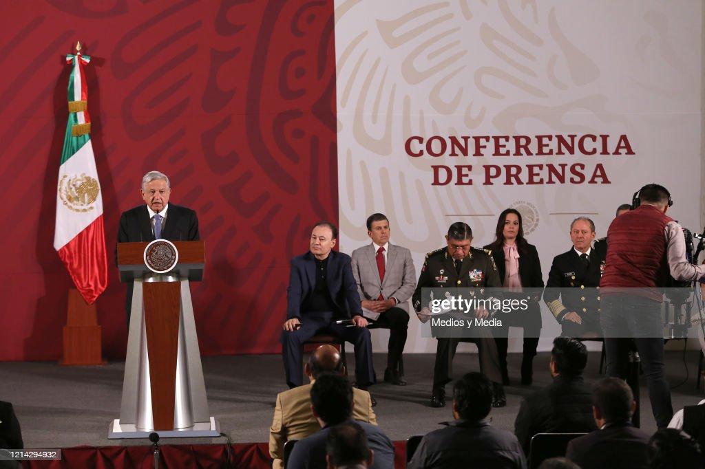 President Lopez Obrador Daily Morning Briefing : ニュース写真
